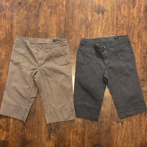 2 pairs of Banana Republic Bermuda Shorts B21